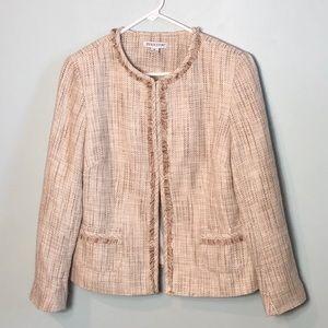Pendleton brown toned blazer jacket fringe size 14